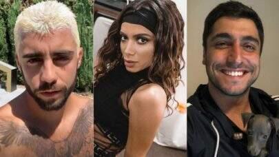 Exs de Anitta, Pedro Scooby e Thiago Magalhães ficam cara a cara durante festa