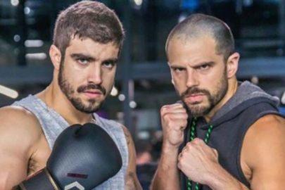 """Após gravação de luta, Caio Castro e Duda Nagle brincam: """"Acidente de trabalho"""""""