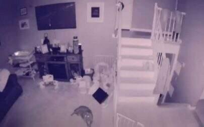 """Câmera de segurança flagra suposto espírito correndo: """"É uma criança?"""""""