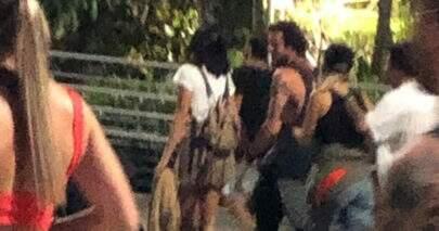 Bruna Marquezine deixa Rock in Rio de mãos dadas com irmão de Giovanna Ewbank