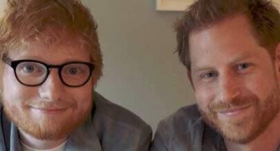 """Ed Sheeran e príncipe Harry se encontram: """"É como se olhar no espelho"""""""