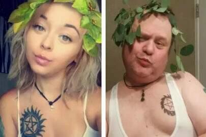Americano imita poses da filha no Instagram e faz sucesso