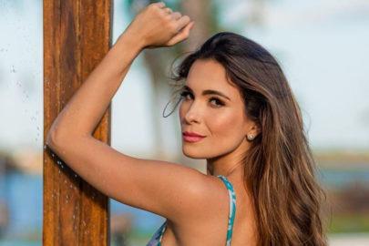 """Ex-BBB Kamilla Salgado exibe """"frente e verso"""" com maiô cavado e mostra demais: """"Vai escapar"""""""