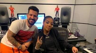 Ludmilla passa noite gravando em estúdio com Dennis DJ