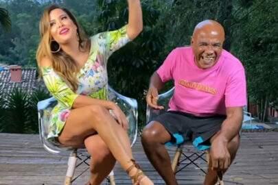 Após entrevista, Geisy Arruda encontra Kid Bengala em local inusitado