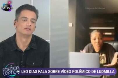 """Ludmilla imita Leo Dias ao vivo e reação do apresentador viraliza: """"Olha a cara dele"""""""