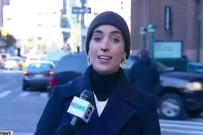 """Nariz de repórter da Globo sangra ao vivo: """"Deixa ela correr"""""""