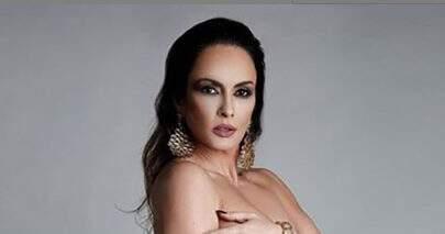 Núbia Oliiver dispensa roupas em foto e faz enquete ousada