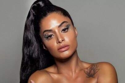 Aline Riscado mostra maquiagem de carnaval e chama atenção de internautas