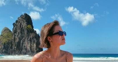 """Agatha Moreira compartilha clique de verão e reflete: """"Muito abençoada"""""""