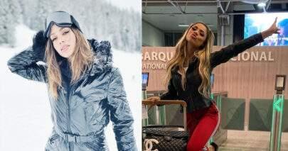 """Anitta e Lexa protagonizam momento hilário na neve e fãs se divertem: """"Malucas"""""""