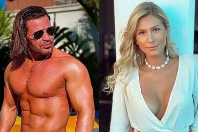 """Eduardo Costa responde crítica de Lívia Andrade sobre seu cabelo: """"Vem ver de perto"""""""