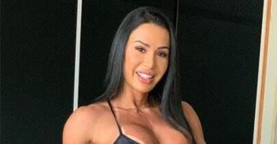 Gracyanne Barbosa posta clique inusitado durante treino e internet vai à loucura