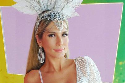 Lívia Andrade mostra roupa para cobertura do Carnaval no SBT