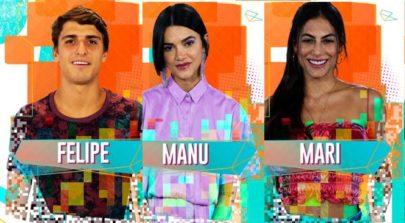 BBB20: Prior, Manu e Mari estão no décimo paredão
