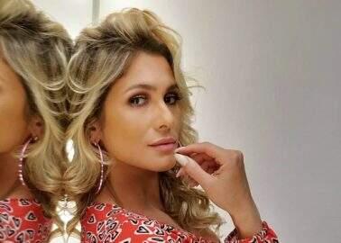 Lívia Andrade posa bem à vontade curtindo uma fogueira em clique poético