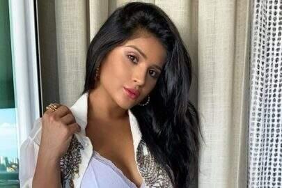 Mileide Mihaile posa com modelito vermelho minimalista e encanta seguidores