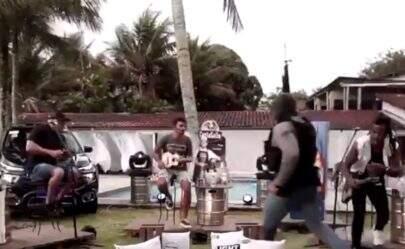 Live do grupo Aglomerou é interrompida por tiroteio em Angra do Reis e cenas chocam internautas