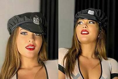 """Geisy Arruda promove o """"proibidão"""" com foto algemada e dá o que falar"""