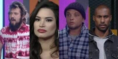 'A Fazenda 12': Cartolouco, Raissa, Fernandinho e Rodrigo estão na primeira roça