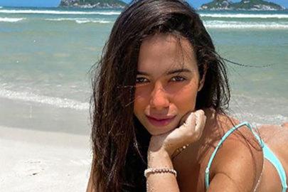 """Sósia de Anitta mostra cenário paradisíaco: """"Sol está brilhando"""""""