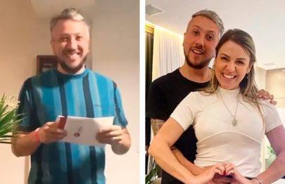 """Viúva de baterista da banda Lagum anuncia gravidez: """"Lembrar do papai todos os dias"""""""