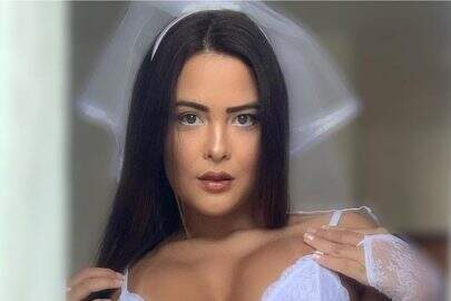"Vestida de noiva, Geisy ostenta saúde em foto diferenciada: ""Sempre linda"""
