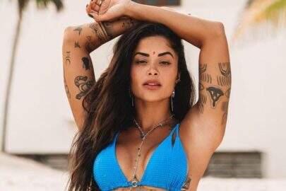 """Com look fitness, Aline Riscado curte dia de verão: """"Orgulho de ser carioca"""""""