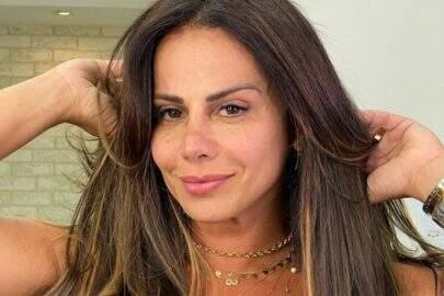 """Viviane Araújo esbanja boa forma em clique ao ar livre: """"Renove sua energia"""""""