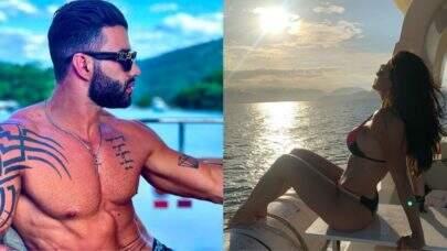 """Após flagra com Andressa Suita, Gusttavo Lima posta foto com mensagem de reflexão: """"Vivendo um dia de cada vez"""""""