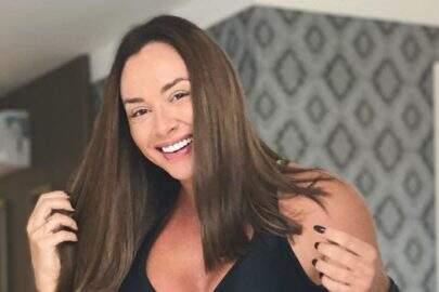 """Juju Salimeni ostenta saúde com look do dia e brinca: """"Bem básico"""""""