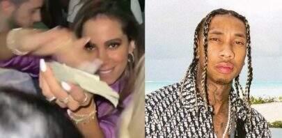 Anitta joga dinheiro para o alto em balada com Tyga nos EUA e divide opiniões na web