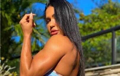 Roupa inusitada de Gracyanne Barbosa chama a atenção nas redes sociais