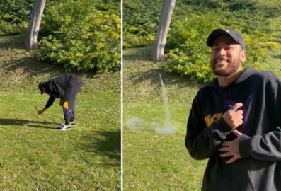 """BBB21: Neymar solta fogos para comemorar eliminação de Karol Conká: """"Última comemoração"""""""