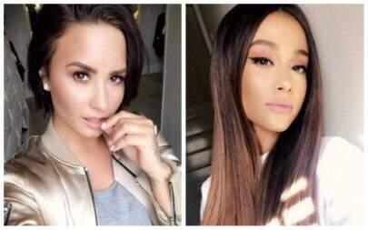 Demi Lovato e Ariana Grande indicam que estão gravando nova música e deixam fãs eufóricos