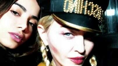 Madonna relembra parceria musical com Anitta e internet vai à loucura