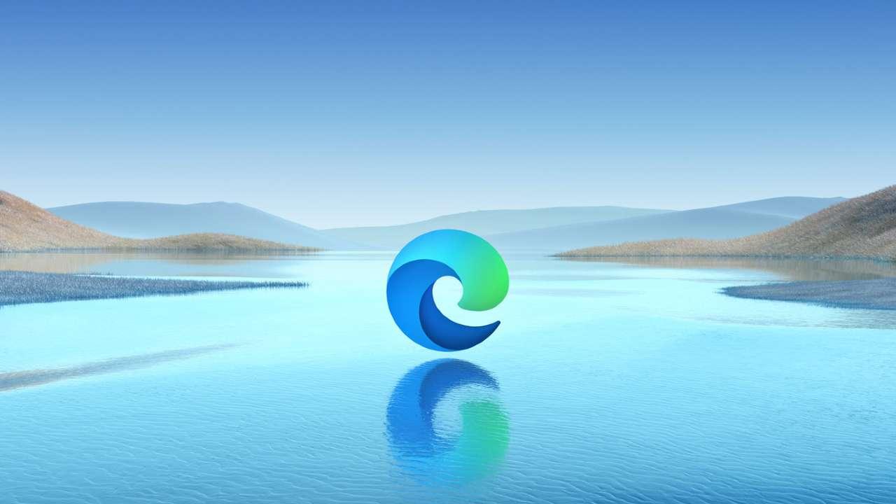 Logo azul do Microsoft Edge