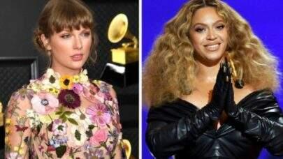 """Taylor Swift recebe flores de Beyoncé por sua vitória histórica no Grammy 2021 e festeja: """"Melhor sexta-feira de todas"""""""