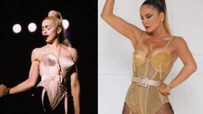 """Claudia Leitte fala sobre inspiração em Madonna: """"Meu apelido era Madonninha"""""""