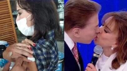 Esposa de Silvio Santos, Íris Abravanel recebe 1ª dose da vacinada contra Covid-19