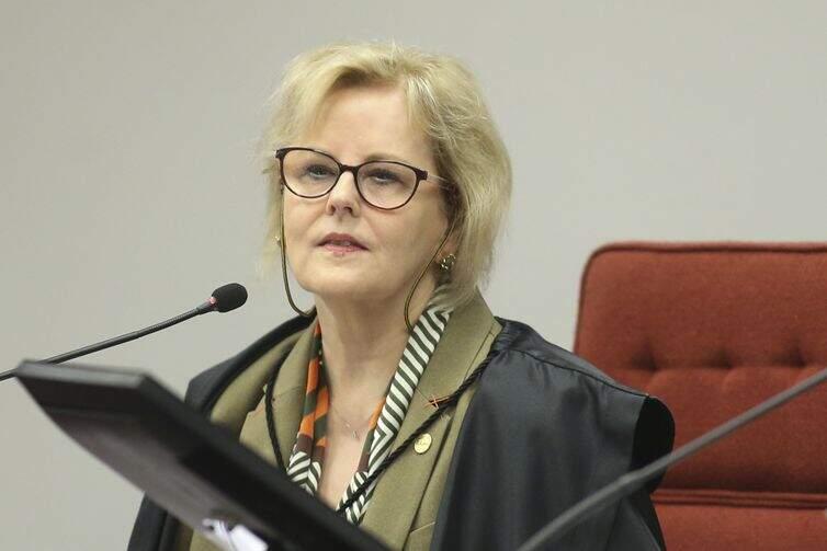 A ministra do Supremo Tribunal Federal (STF), Rosa Weber, durante sessão
