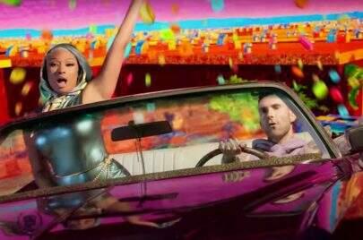 "Bem colorido, Maroon 5 e Megan Thee Stallion lançam o clipe psicodélico de ""Beautiful Mistakes"""