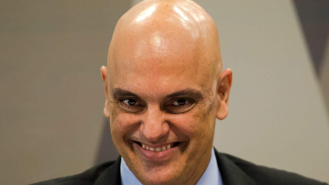 O ministro do Supremo Tribunal Federal (STF), Alexandre de Moraes, em reunião;