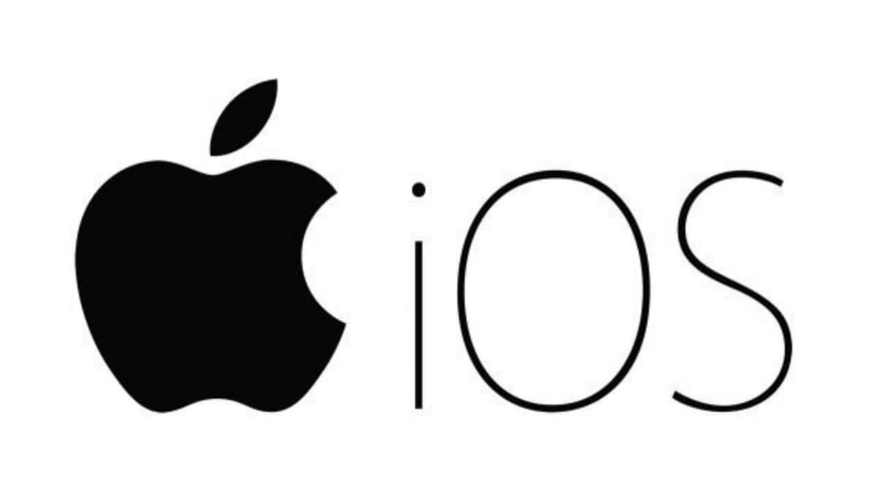 Logo do iOS preto e branco da Apple