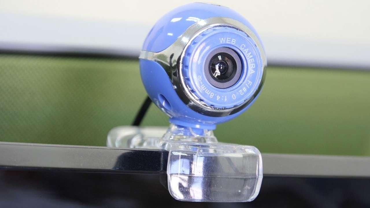Webcam azul no PC
