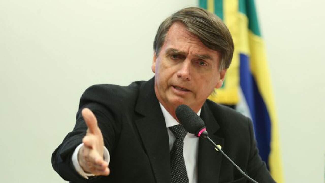 O presidente Jair Bolsonaro em pronunciamento