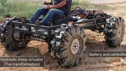 Cientistas desenvolvem rodas dobráveis que podem ser úteis para missões espaciais