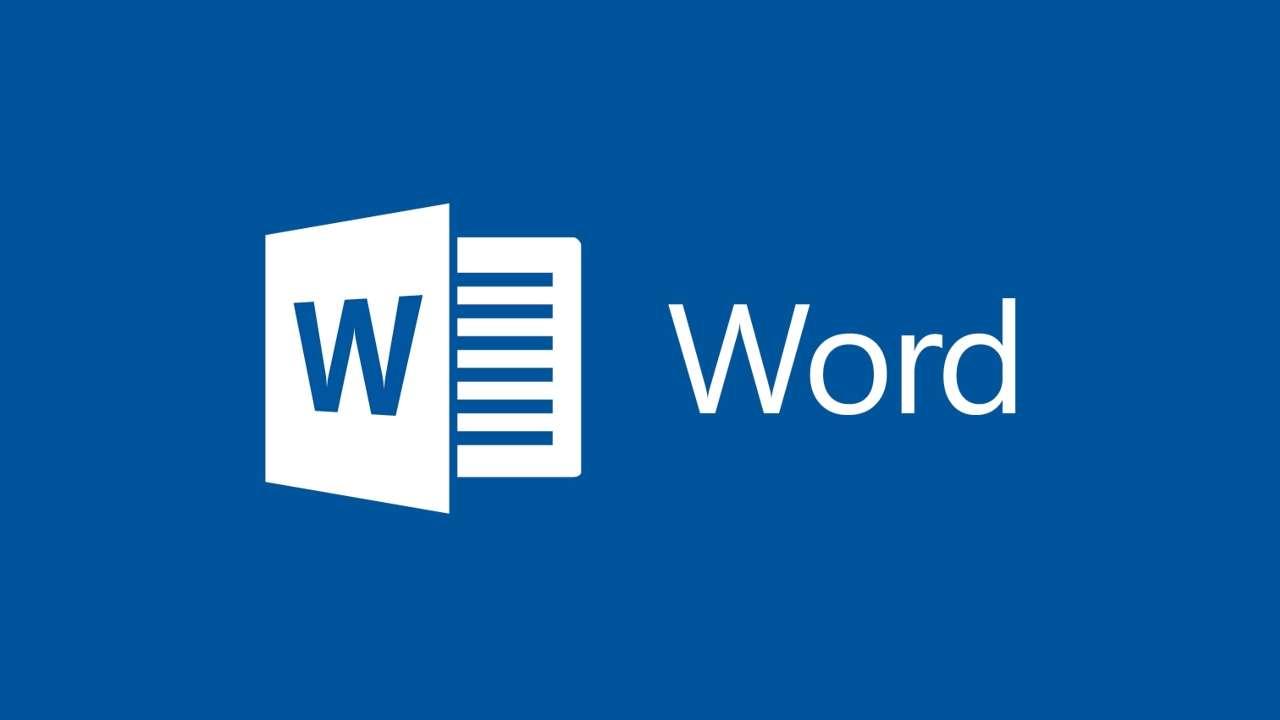 Logo azul do Word
