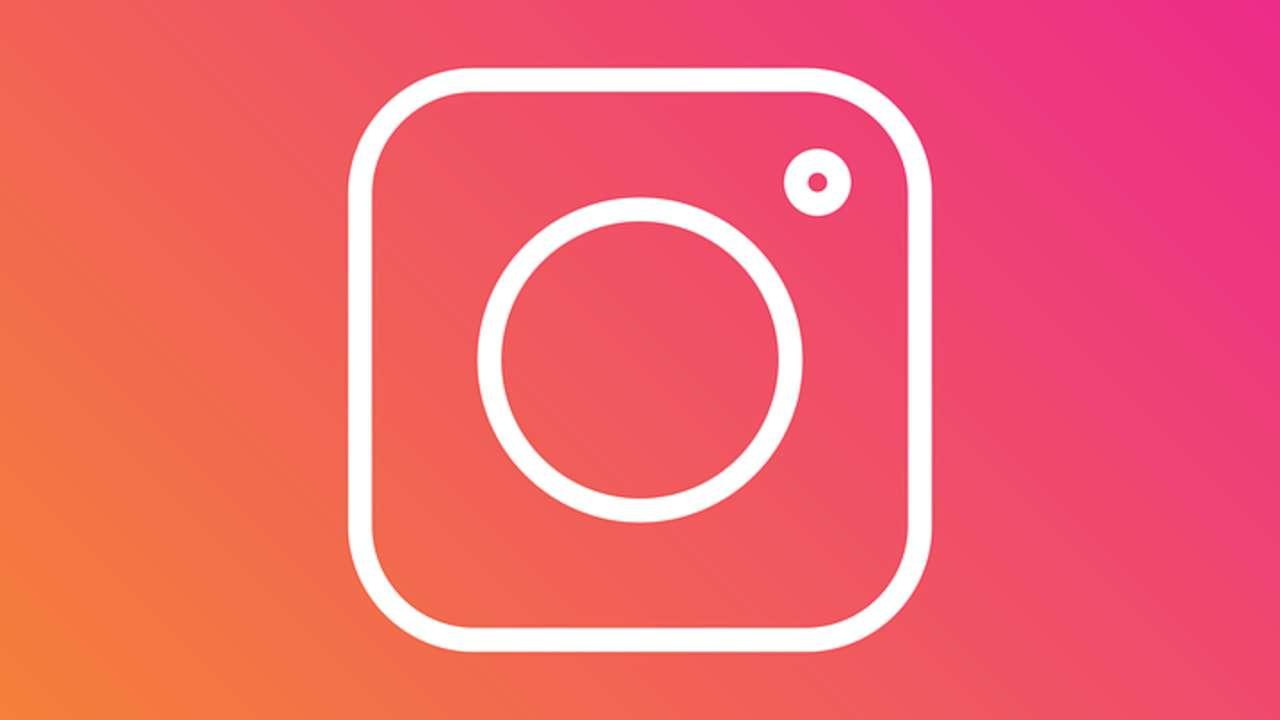 Logo rosa do aplicativo Instagram