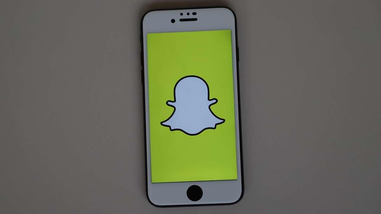 Snapchat aberto no celular